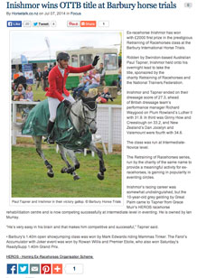 Inishmor wins OTTB title at Barbury horse trials