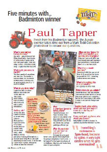 Five minutes with Paul Tapner