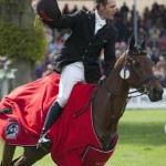 Paul and Mannie (Inonothing) enjoy their lap of honour after winning the Badminton Horse Trials in 2010