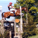 Flying round the cross-country at Badminton, 2007