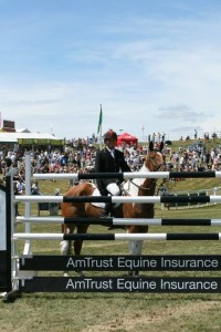 Tiger & Paul at Barbury in 2010 after winning the AmTrust Equine Eventer's Puissance