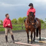 Paul Tapner takes working pupils for training at his base, Wickstead Farm near Highworth, Swindon