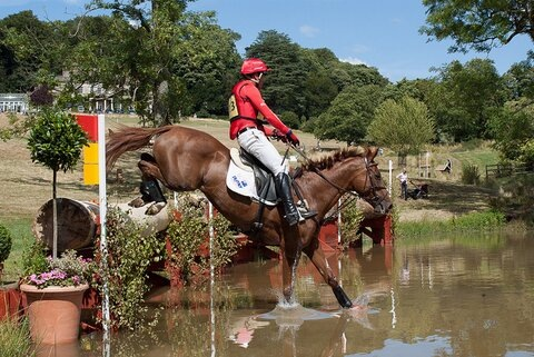 Paul Tapner & Pioneer Milly in the Novice Championships at the Gatcombe Festival of British Eventing