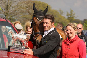 Paul & Georgina with Inonothing after his win at Badminton 2010