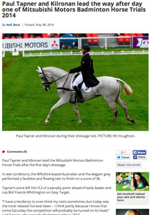 Paul Tapner and Kilronan lead the way after day one