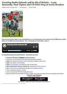 Eventing Radio Episode 308 (hear Paul from 26:20)