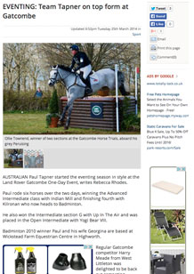 Team Tapner on top form at Gatcombe